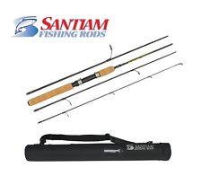 "SANTIAM FISHING RODS 4 PC 6'6"" LB SPINNING DIAMOND LAKE SERIES TRAVEL/PACK ROD"