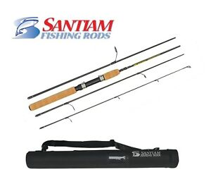"SANTIAM FISHING RODS 4 PC 7'0"" LB SPINNING DIAMOND LAKE SERIES TRAVEL/PACK ROD"