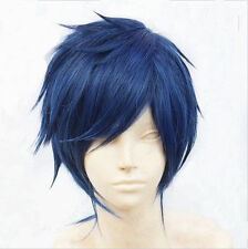 Hot !! 2015 New Men Vocaloid Kaito short Straight blue cosplay ANIME Wig