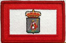 GIJON ESPANA Flag Embroidery Iron-On Patch Spain Biker Emblem Red  Border #018