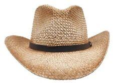 Strohhut mit Hutband braun