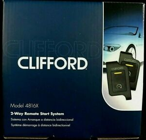 Car Remote Start Clifford 4816 X  2-Way LED 1-Button remote 1 Mile range Viper