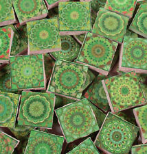 Ceramic Mosaic Tiles - Moroccan Tile Design Lime Green Moroccan Medallions