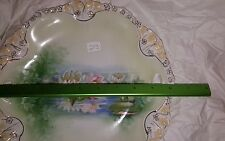 "R. S. Prussia Water Lily Shallow Plate/Bowl Approx 10"" in Diameter -"