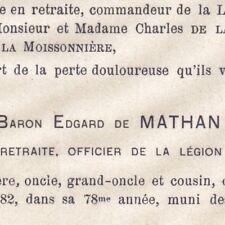 Edgard Hue De Mathan Amiens Somme 1882 Baron Colonel Cavalerie 8ème Hussards