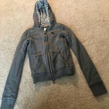 Abercrombie & Fitch - Grey Sweater Zip Up Hoodie Jacket Size S Small