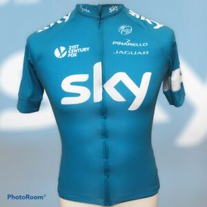 Rapha Team Sky 2014 Turquoise Blue Short Sleeve Cycling Jersey Small