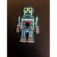 Grey Robot Bionic Machine Iron On Craft Motif Stylish Patch