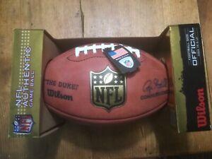 Official Wilson NFL The Duke Football Game Ball Signed Steeler Troy Polamalu #43