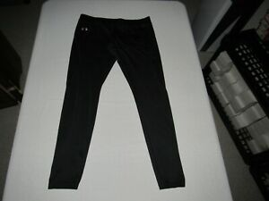 """Under Armour Women's Black Yoga Fitted Pants Size L Waist 32""""-34"""" Inseam 31"""""""