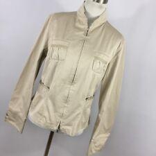 Giorgio Armani Black Label Jacket 40 4 Tan Beige Pockets Full Zip Front L/S W2P