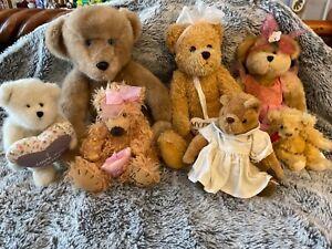 Bulk lot of beautiful collectable teddy bears