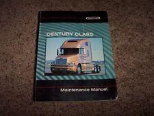 Freightliner Century Argosy COE C112 C120 Coronado Owner Maintenance Manual