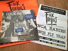 FOLK DEVILS-BEAUTIFUL MONSTERS 1984-86 2xLP/CD(ON)2xPOSTERS SIGNED