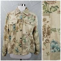 Coldwater Creek Womens size 1X 16/18 Jacket Coat Blazer professional floral