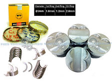 90-95 Acura Integra 1.8L B18A1 B18B1 Engine Pistons Rings with Main Rod Bearings