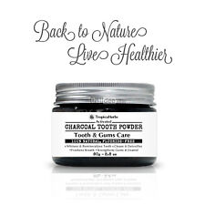 Activated Charcoal Whitening Tooth Powder Peppermint Toothpaste Fresh Breath 80g