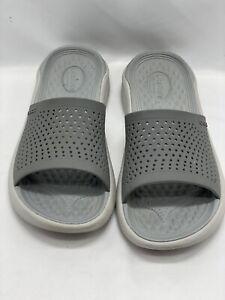 Crocs Literide slide youth gray m4/w6 cushion shoes 205183