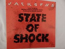 "Jacksons ""State Of Shock"" PICTURE SLEEVE! BRAND NEW! NICEST COPY ON eBAY!!"