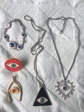 Magic Eye statement necklace earrings bracelet ring resale job lot NEW RRP £70