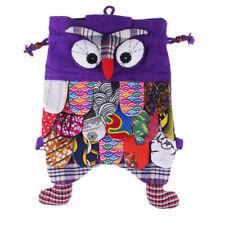 Genuine tribal hand made vintage cute Owl Cotton Patchwork Backpack Girl handbag