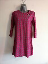 b8fdd204a61 Motel Rocks Windsor Raspberry Long Sleeved Shift Dress Size XS UK 8 -