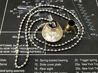 """Sniper's Savior"" Quarter Dollar Coin Necklace, Trinket With Genuine Bullet Hole"