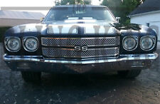 1970 Chevy Chevelle chrome mesh grill dual weave mesh grille 2 piece