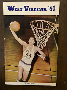 """1960 """"Rare"""" West Virginia Basketball Media Guide/JERRY WEST on the Cover-MINT"""