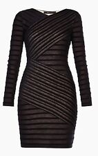New with tag $178 BCBG Max Azria Jerri Striped B1427 Dress Sz L