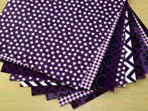 Patterned Soft Craft Felt Assortment Pack - Purples