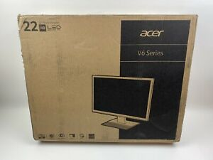 "Acer V226WL 22"" Widescreen LED Monitor, 1050p, 250Nit, 5ms, 60Hz, 2Speakers NEW"