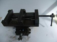 "Dayton Cross Slide Drill Press Vise 8"" Jaw Width 8"" Opening Capacity Heavy Duty"