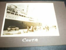 Old photograph Ceuta North Africa docks 1933