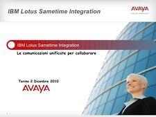 Lotto per OdL 4 x Avaya Conferencing IBM Lotus sametime Intergration ntl700500033 morbido