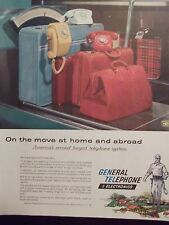 1959 General Telephone & Electronics Original Vintage Advertisement