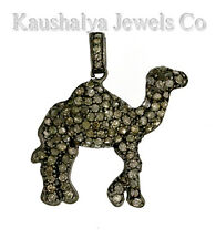 Victorian 1.59ct Rose Cut Diamond Very Cute Camel Wedding Pendant VTJ EHS