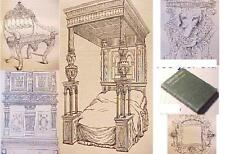 1875 FURNITURE+WOOD WORK Chair ADS Tudor STUART ENGLISH FRENCH ROMAN woodcut ART