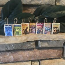 7 Harry Potter Book Ornaments Handmade Custom Order