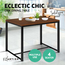 Artiss Dining Table 4 Four Seater Kitchen Chairs Industrial Rustic Retro Wooden