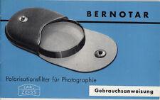 Carl Zeiss Bedienungsanleitung für Bernotar Polarisationsfilter  - Anleitung