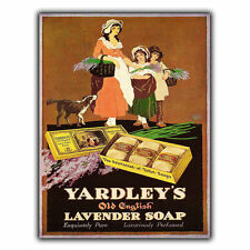 D'YARDLEY SAVON SIGNAL MÉTALLIQUE PLAQUE MURALE Vintage Cuisine Salle De Bain