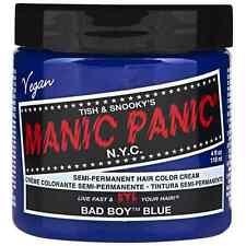 Manic Panic Semi-Permanent Hair Color Cream, Bad Boy Blue 4 oz (Pack of 2)