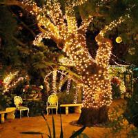 LED Solar Power Fairy Lights String Garden Outdoor Party Wedding Lamp New