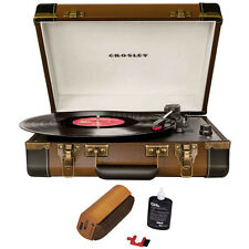 Crosley Executive Port. USB Turntable w/Editing Software Brown w/Cleaning System