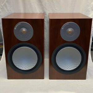 Monitor Audio Silver 100 Premium Bookshelf Speakers - Walnut