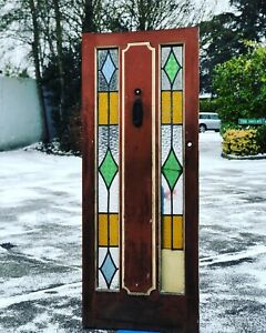 Art Deco Front Door With All Original Fittings And Glass