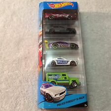 2014 MATTEL HOT WHEELS BFB24 POLICE PURSUIT CITY 5-PACK - NEW