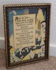 "Vintage 1925  Buzza  Motto ""Ain't it Fine""  Saying Poem Old Print Picture"