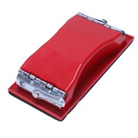 Rectangle paper grit sandpaper holder hand sander red black I4J4